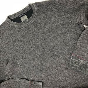 Prana Men wool belly crewneck grey sweater